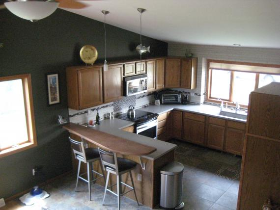 excellent painted kitchen with dark gray kitchen walls
